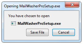 Save the MailWasherPro application