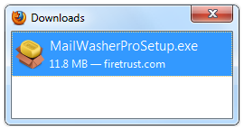 Open the MailWasherPro Installer